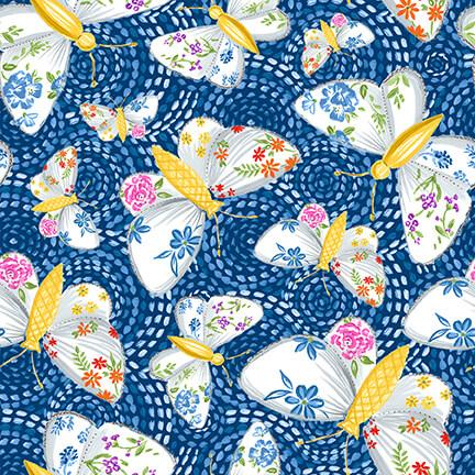 Gypsy Dreams Blue Butterflies
