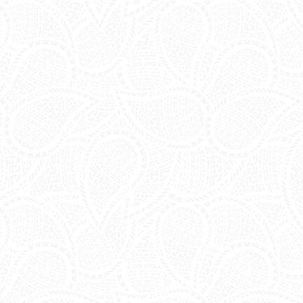 9757-01W White On White paisley design