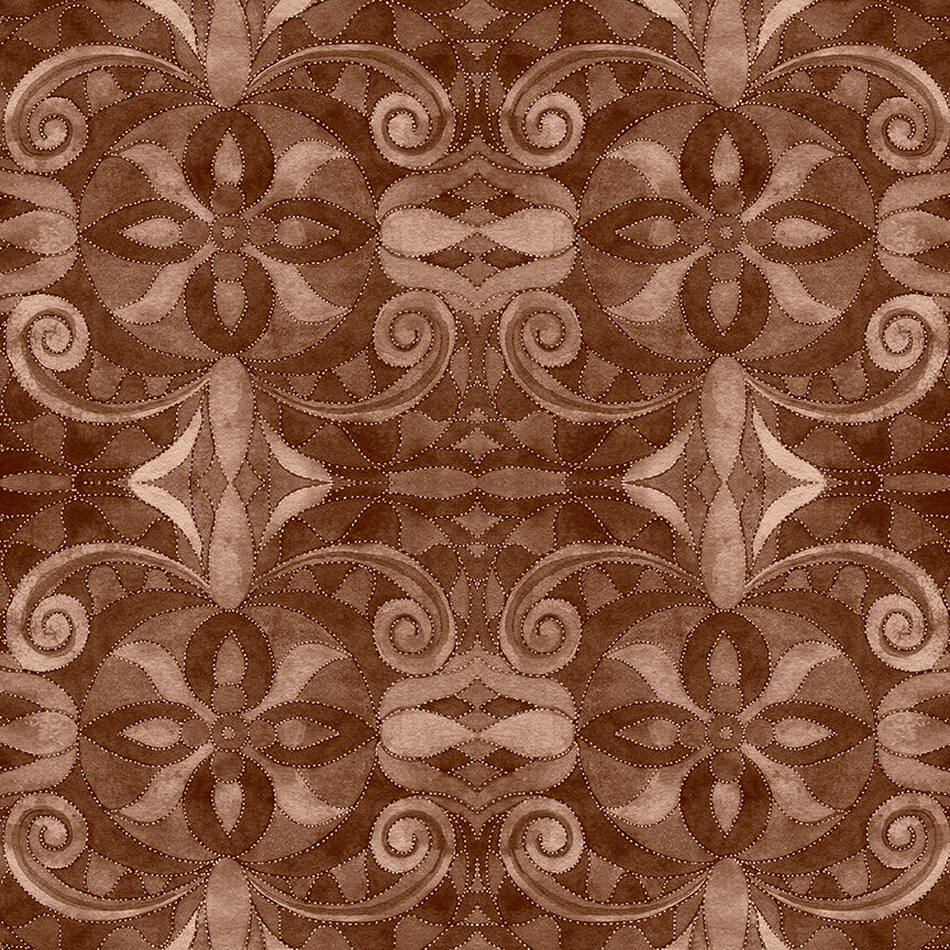 Blank Quilting 108 Brown Baroque 9777 39