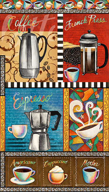 Brewed Awakenings Coffee Themed Patches