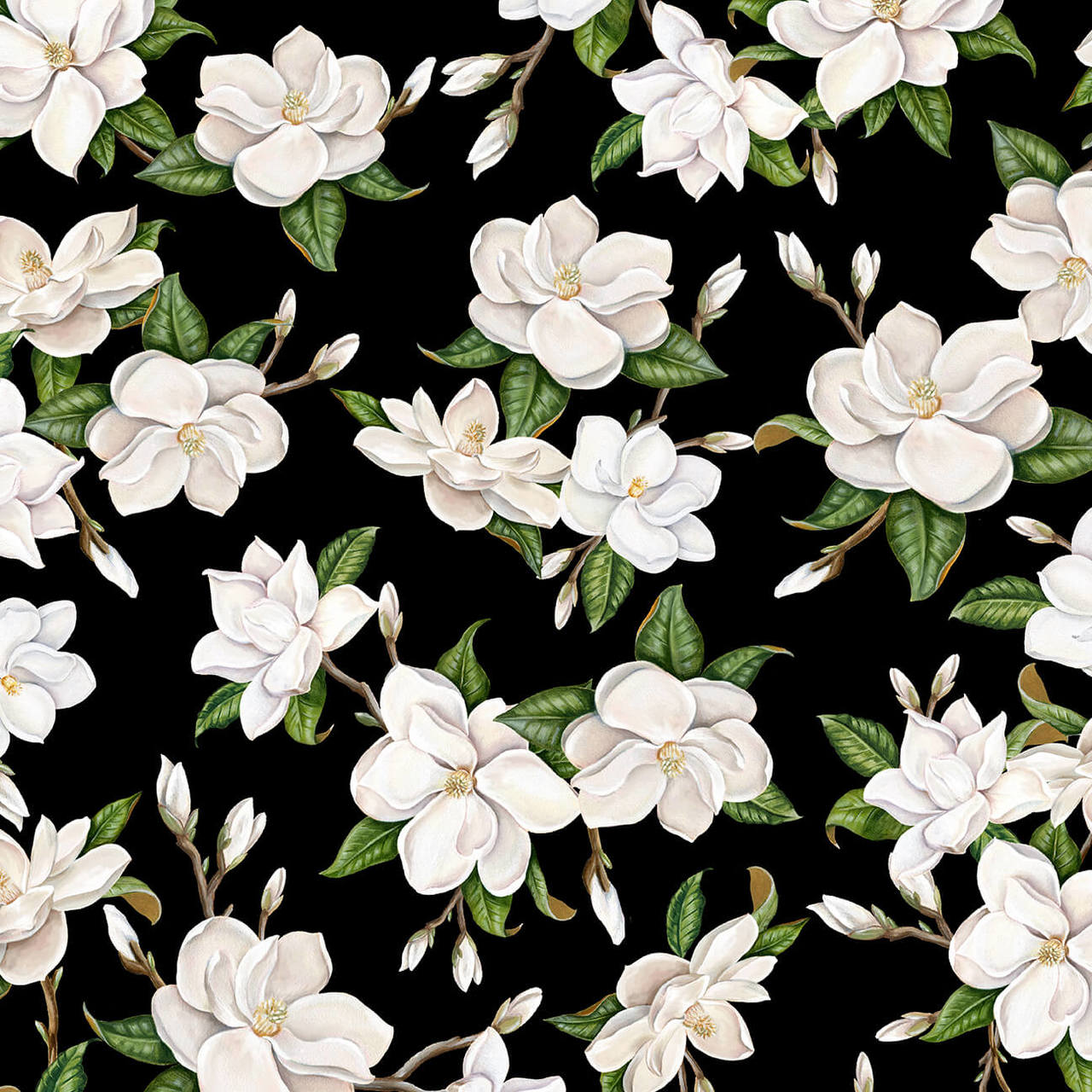 Large Magnolia 9844-99 Black