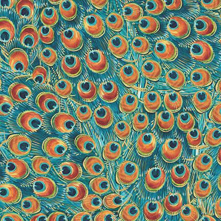 Peacock Pavillion - Blue Feathers