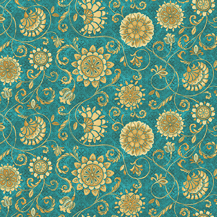 Blank Quilting 9858-70 Turquoise