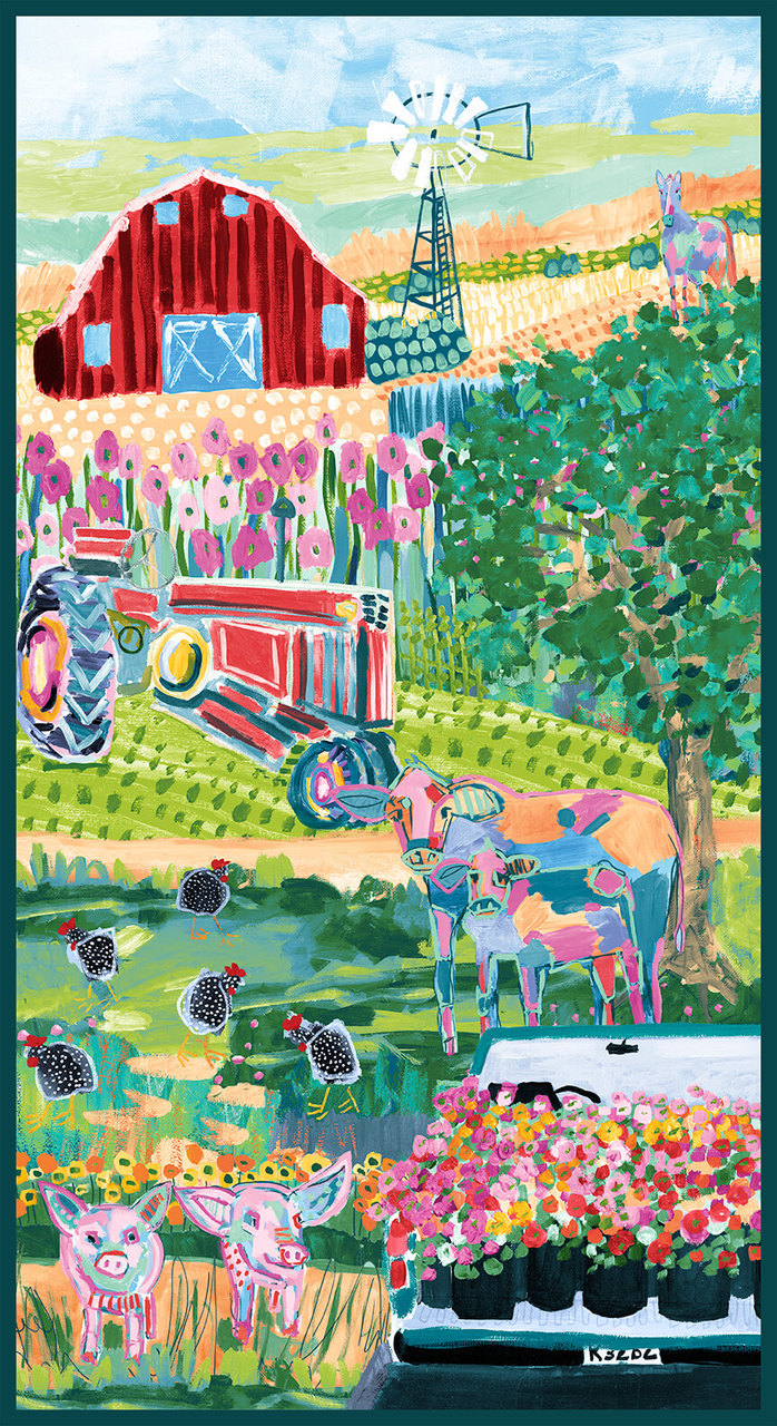 Udderchaos Green Farm Panel, 24 designed by Kaitlynns Roberts