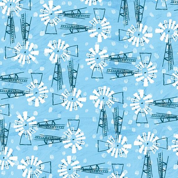 Udderchaos Blue Windmills designed by Kaitlynns Roberts
