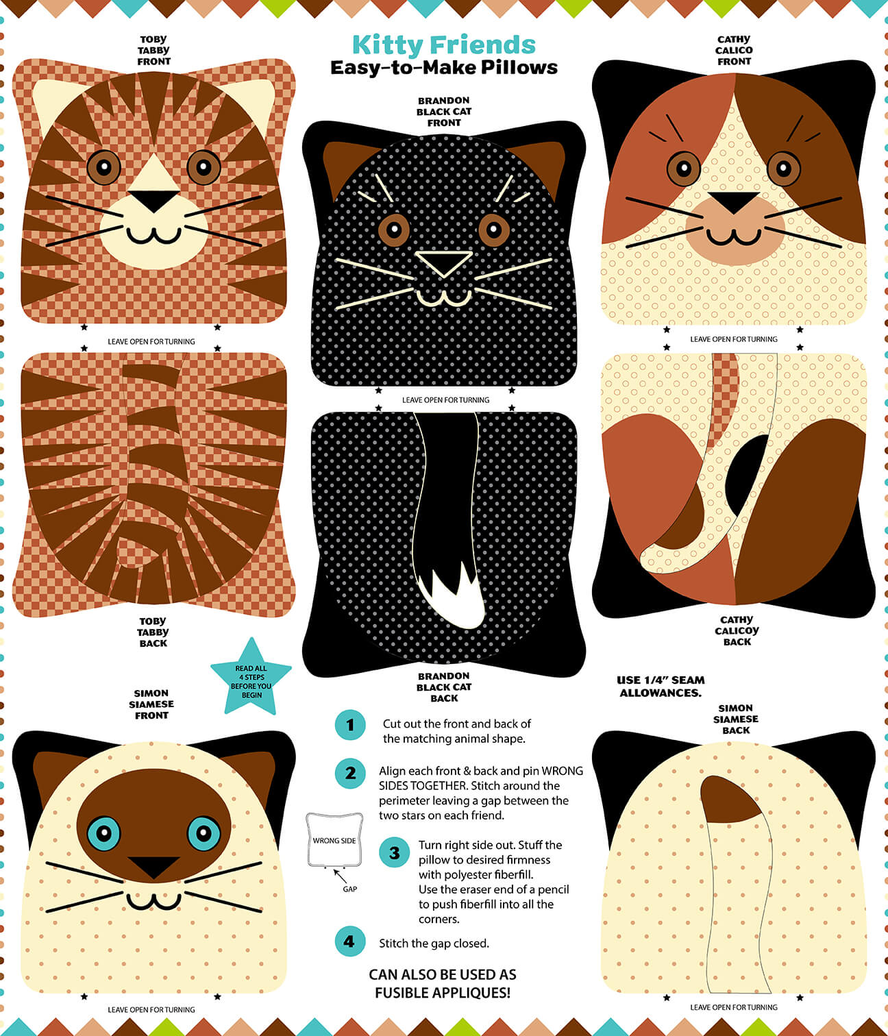 SNUGGLE PILLOWS KITTY FRIENDS 99679