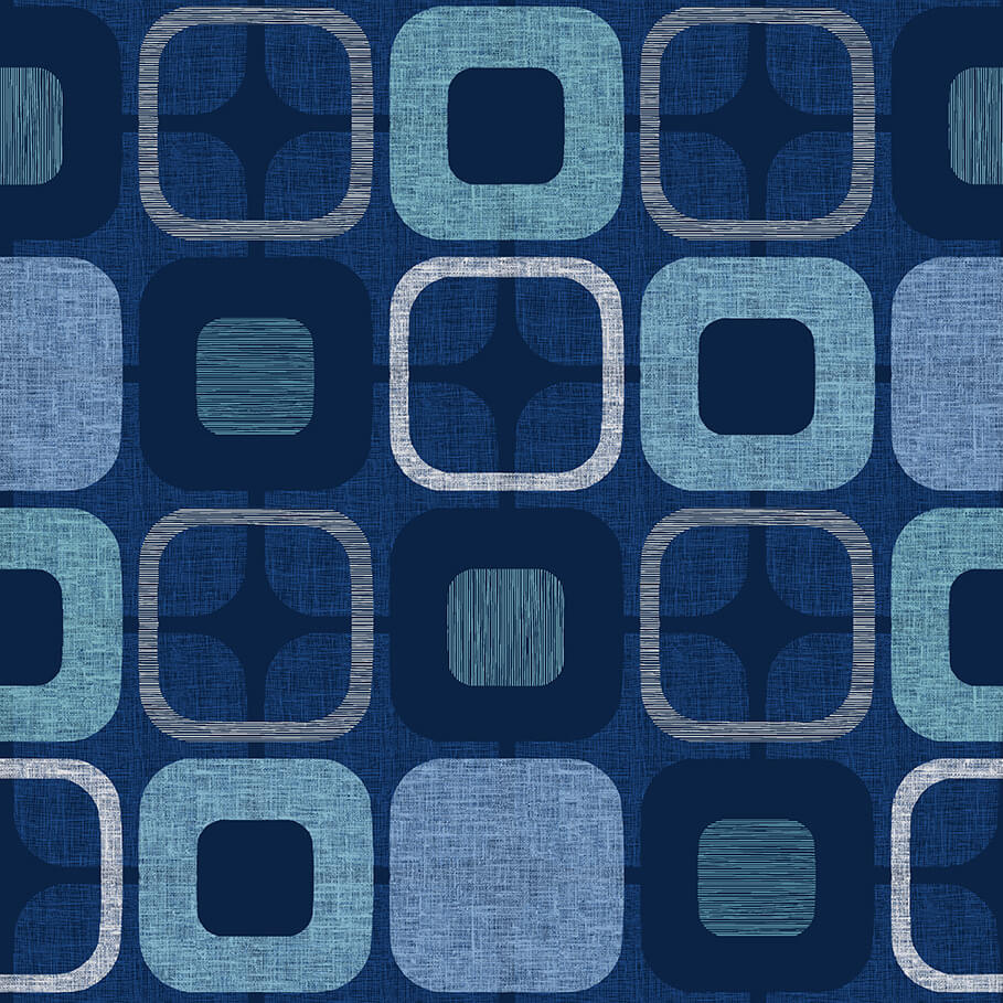 108 GEO-SQUARE -- Navy Backing fabric