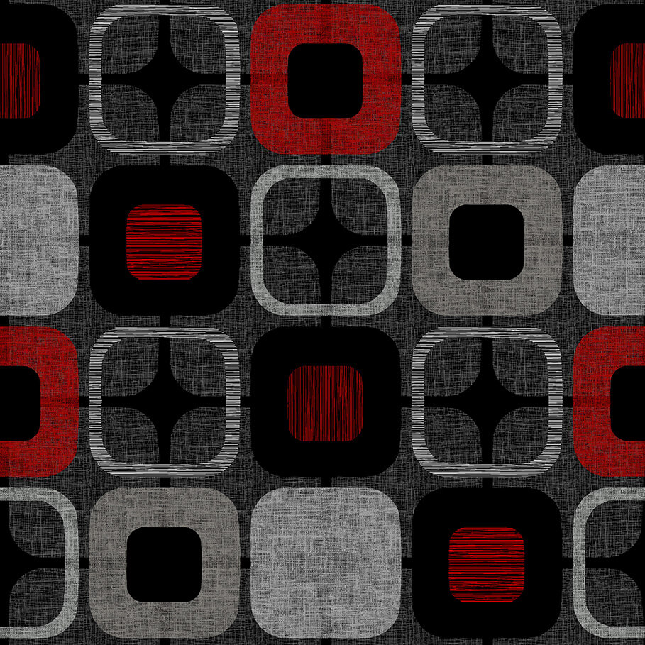 Geo-Square 108 Wide Back 9986-88 Red/Black/Gray