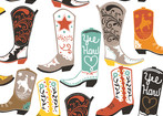 Luckie - Cowboy boots on white