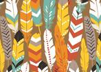 Luckie - Orange feathers