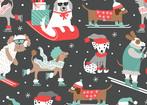 Snowlandia Winter Dogs Dk Grey