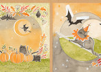 happy halloweeny - halloween stories panel - actual size 12 x 44