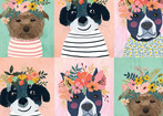 Floral Puppy Multi