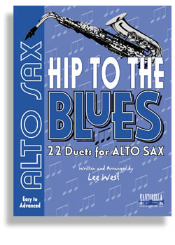 HIP TO THE BLUES WEST BKCD (TS015WCD ) (Sax Alto Duets )