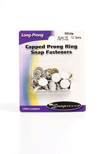 Cap Prong Ring Sz 16 Wh 10
