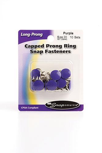Cap Prong Ring Sz20 Purp 10