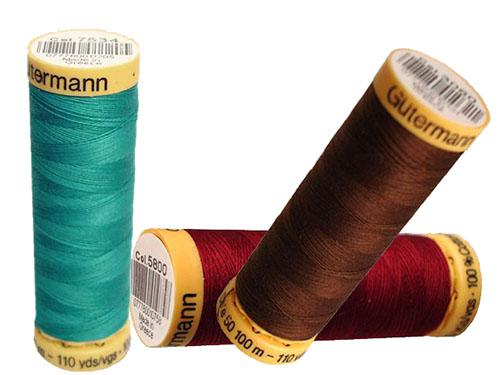 Almost Black Gutermann Natural Cotton 110yds