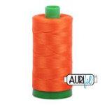 Aurifil Cotton Mako Thread 50wt  NEON ORANGE - 1104