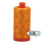 Mako Cotton Thread Solid 50wt 1422yds Yellow Orange #2145