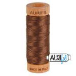 1285 Aurifil 80wt  Cotton 280m MEDIUM BARK