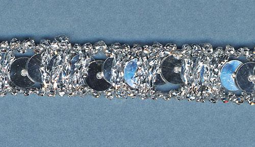Sequin Frizette Silver Trim