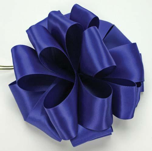 Double-Face Satin 1/14 100yd, Navy Ribbon: Double-Face Satin 1/14 100yd