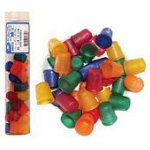 11/16 Thimble Jelly Fingers 6 colors mixed (18mm) - Small