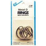Metal D-Rings 1in Nickel
