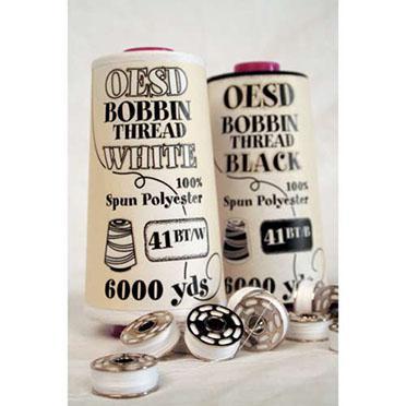 OESD Bobbin Thread Black 6000y