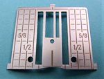 HV Topaz 25 Straight Stitch Needle Plate w/Imperial Measurements