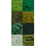 Wool Roving Assorted 8ct JUNGLE