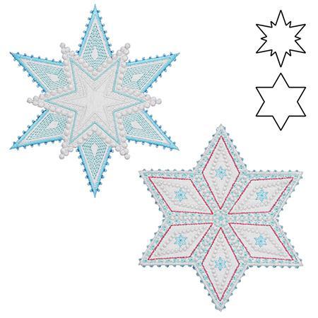 *AccuQuilt GO! Sparkle Snowflak AccuQuilt GO! Sparkle Snowflakes by Sarah Vedeler