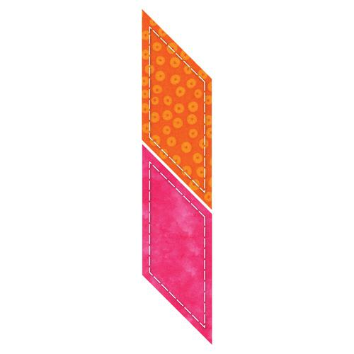 Accuquilt GO! Parallelogram 45?-2 15/16 x 3 7/8 Sides (2 1/4 x 3 3/16 Finished) - 55148