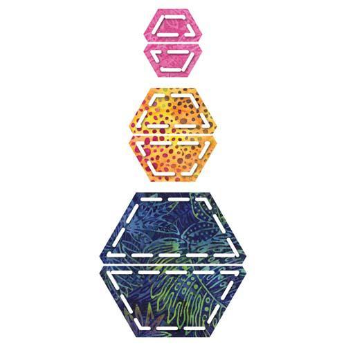 Accuquilt GO! Half Hexagon 1, 1 1/2, 2 1/2 Sides Die - 55165