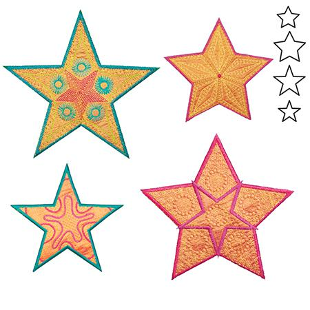 Accuquilt Go! Star Medley-5 Point by Sarah Vedeler