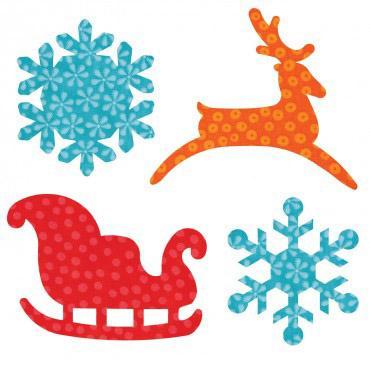 AccuQuilt GO! Sleigh & Snowfla AccuQuilt GO! Sleigh & Snowflakes
