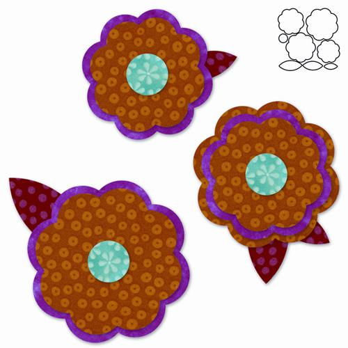 AccuQuilt GO! Rose of Sharon#2 AccuQuilt GO! Rose of Sharon #2