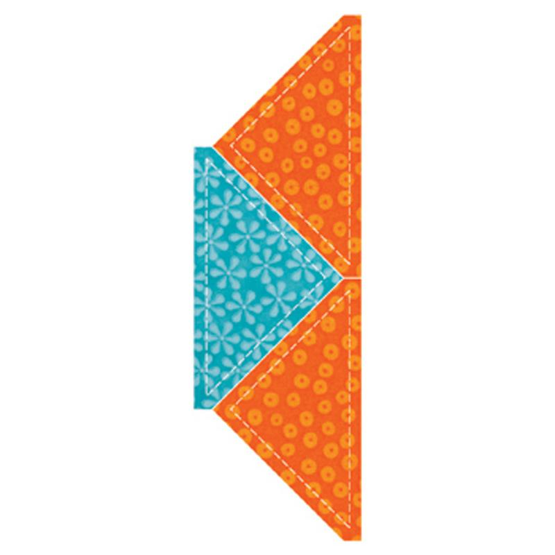 AccuQuilt GO! Half Square Triangle 4 1/2 Finished Square - 55397