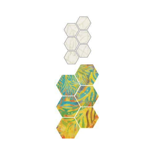 GO! Paper Piecing Hexagon 1/2 Finished