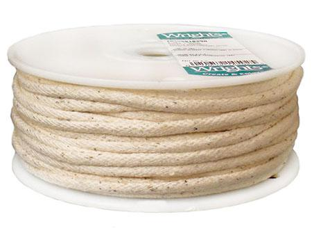 Pre shrunk white cotton piping cord 4,5 or 6mm Washable piping cord select size