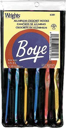Boye-Aluminum Crochet Hook Set-E-J