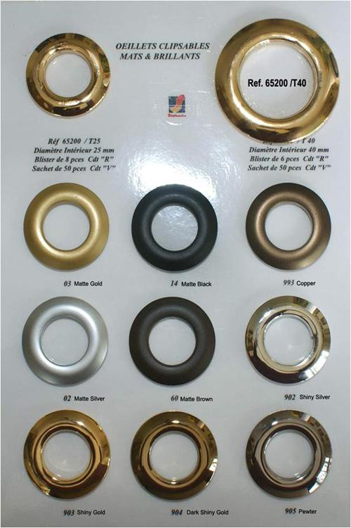 Grommets 25mm Gold