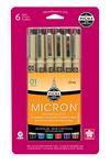 Micron Pens 6pk Multicolor
