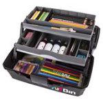 Two Tray Art Supply Box - Black
