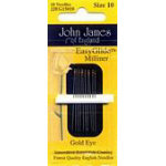 JJ Golden Glide Milliners Needles #10