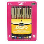 Pigma Brush 8 Color Set