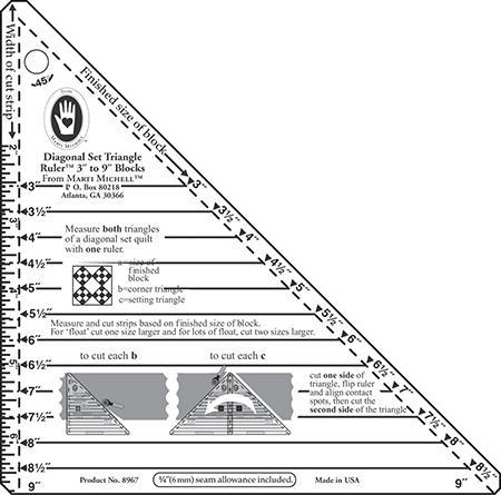 Diagonal SetTriangle Ruler 3