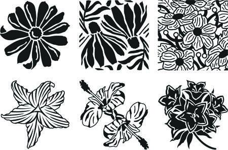 Garden Flowers Rubbing Plates