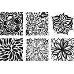 Floral Fantasy Rubbing Plates