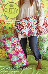 Amy Butler Oval Patchy Pillow